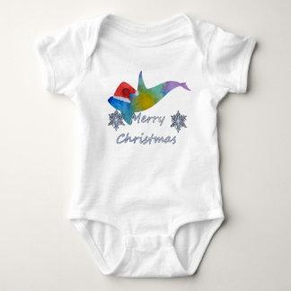 Body Para Bebê Baleia do Natal