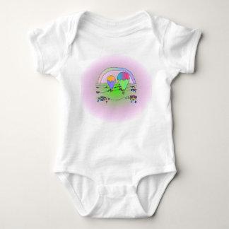 Body Para Bebê Balões do arco-íris
