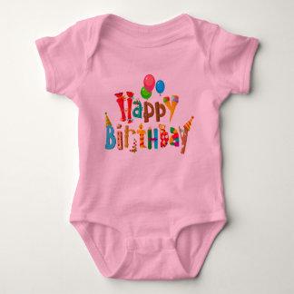 Body Para Bebê balões do arco-íris do amor do feliz aniversario