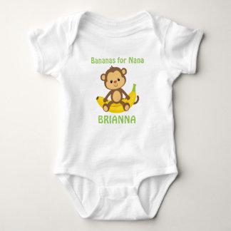 Body Para Bebê Bananas para Nana