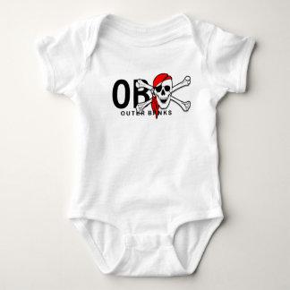 Body Para Bebê Bancos exteriores NC do crânio de OBX e do pirata