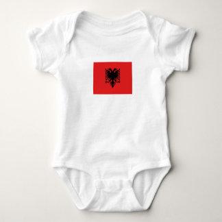 Body Para Bebê Bandeira albanesa patriótica