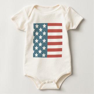 Body Para Bebê Bandeira americana