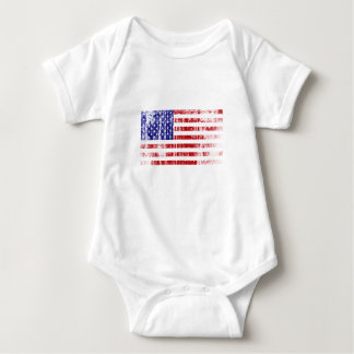 Body Para Bebê Bandeira americana afligida