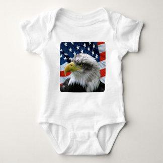 Body Para Bebê Bandeira americana da águia americana