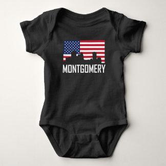 Body Para Bebê Bandeira americana da skyline de Montgomery
