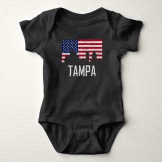 Body Para Bebê Bandeira americana da skyline de Tampa Florida