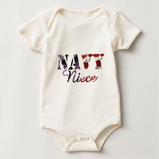 Body Para Bebê Bandeira americana da sobrinha do marinho