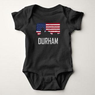Body Para Bebê Bandeira americana Distre da skyline de Durham