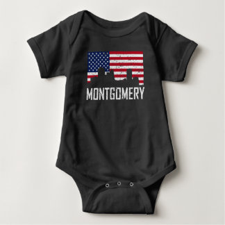 Body Para Bebê Bandeira americana Distresse da skyline de