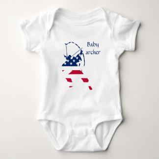 Body Para Bebê Bandeira americana do arqueiro do tiro ao arco dos