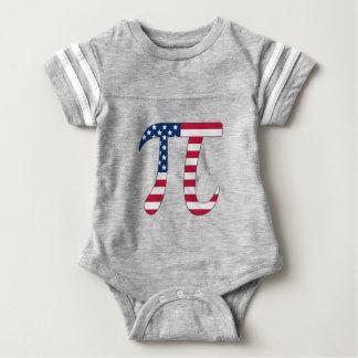 Body Para Bebê Bandeira americana do dia do Pi, símbolo do pi