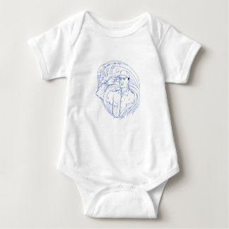 Body Para Bebê Bandeira americana Ukiyo-e da saudação do soldado