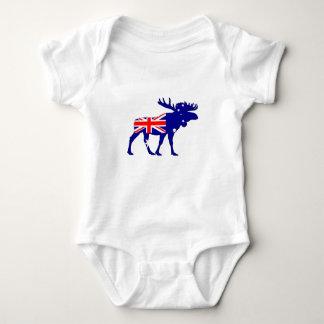Body Para Bebê Bandeira australiana - alce