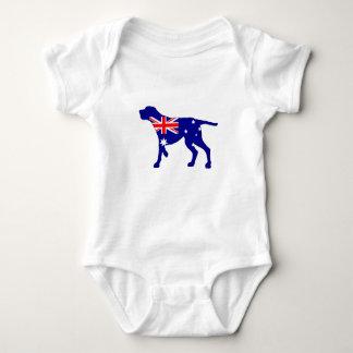 Body Para Bebê Bandeira australiana - Coonhound de Redbone