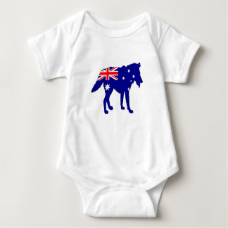Body Para Bebê Bandeira australiana - lobo