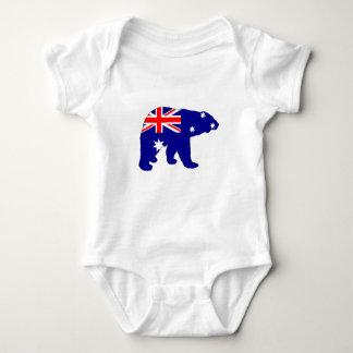 Body Para Bebê Bandeira australiana - urso polar