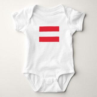 Body Para Bebê Bandeira austríaca patriótica