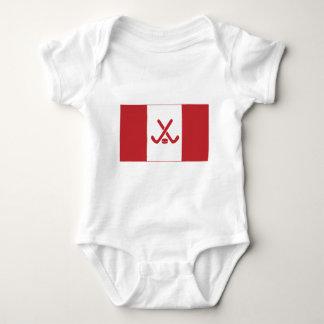 Body Para Bebê Bandeira canadense do hóquei