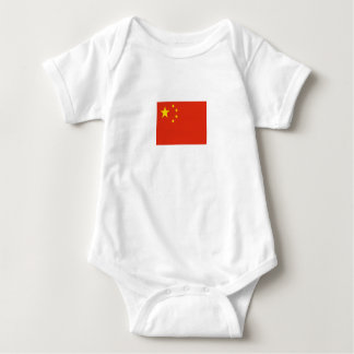 Body Para Bebê Bandeira chinesa patriótica