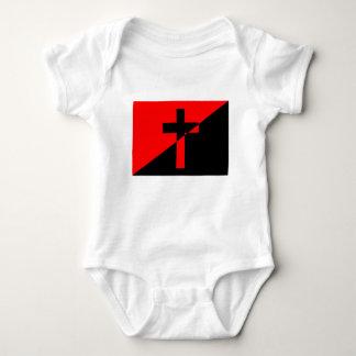 Body Para Bebê Bandeira cristã da cristandade da anarquia do
