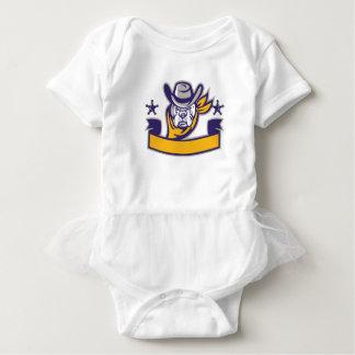 Body Para Bebê Bandeira da cabeça do vaqueiro do xerife do