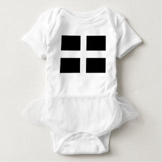 Body Para Bebê Bandeira da Cornualha de Piran Cornish do santo -