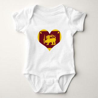 Body Para Bebê Bandeira da ilha de Sri Lanka