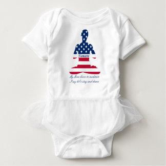 Body Para Bebê Bandeira da ioga do americano da meditação dos EUA