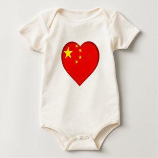 Body Para Bebê Bandeira da República Popular China