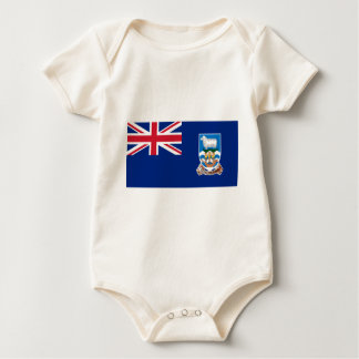 Body Para Bebê Bandeira das Ilhas Falkland - Union Jack