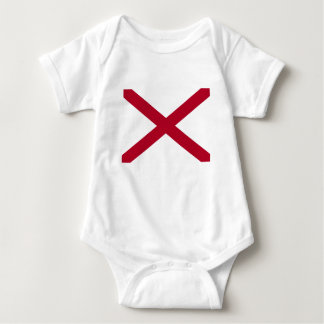 Body Para Bebê Bandeira de Alabama