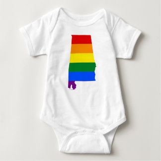 Body Para Bebê Bandeira de Alabama LGBT