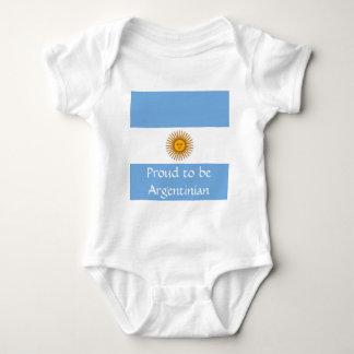 Body Para Bebê Bandeira de Argentina