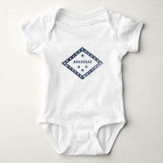 Body Para Bebê Bandeira de Arkansas