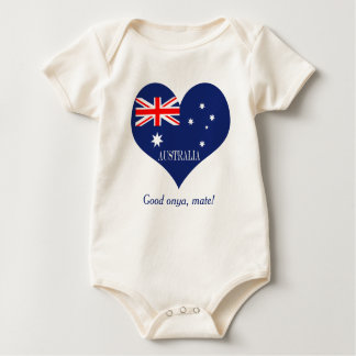 Body Para Bebê Bandeira de Austrália