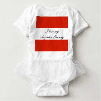 Body Para Bebê Bandeira de Áustria
