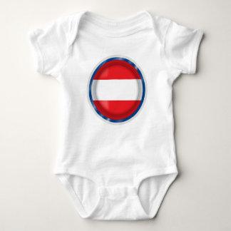 Body Para Bebê Bandeira de Áustria, cores austríacas, pano do