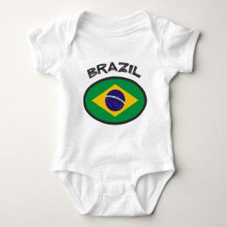 Body Para Bebê Bandeira de Brasil - refrigere o design!