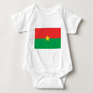 Body Para Bebê Bandeira de Burkina Faso - Drapeau du Burkina Faso