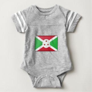 Body Para Bebê Bandeira de Burundi