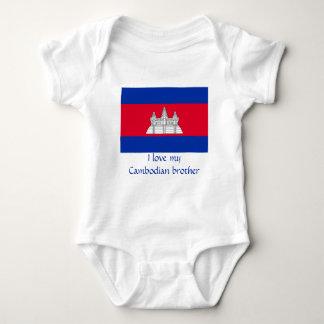 Body Para Bebê Bandeira de Cambodia