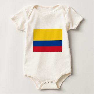 Body Para Bebê Bandeira de Colômbia - bandera de Colômbia