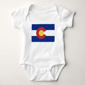 Body Para Bebê Bandeira de Colorado
