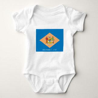Body Para Bebê Bandeira de Delaware