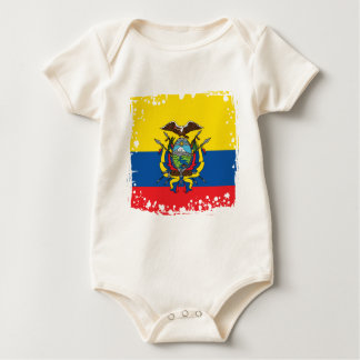 Body Para Bebê Bandeira de Equador, república de cores de Equador