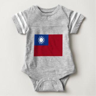 Body Para Bebê Bandeira de Formosa a República da China