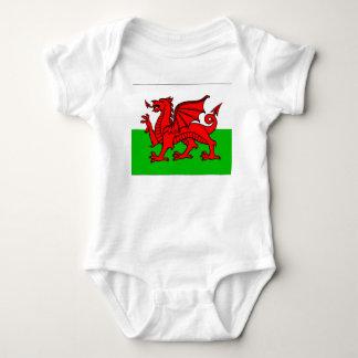 Body Para Bebê Bandeira de Galês