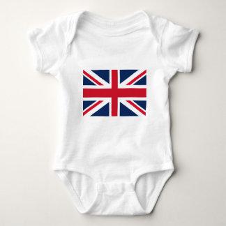 Body Para Bebê Bandeira de Inglaterra