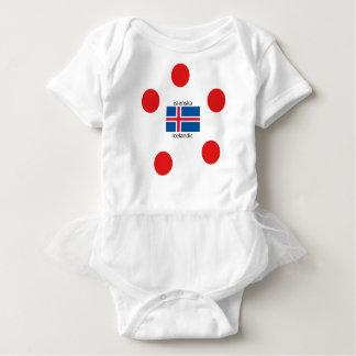Body Para Bebê Bandeira de Islândia e design islandês da língua